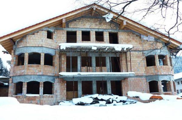 Izgradnja kuće zimi